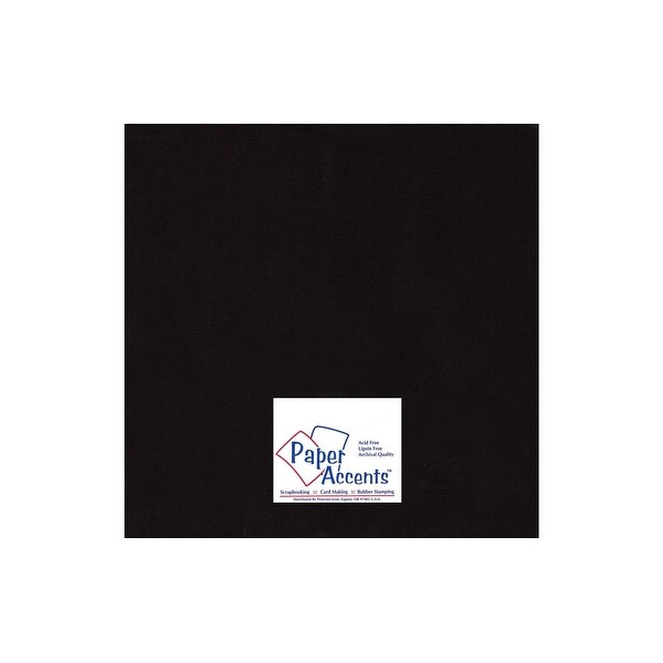 Cdstk Muslin 12x12 73lb Deep Black