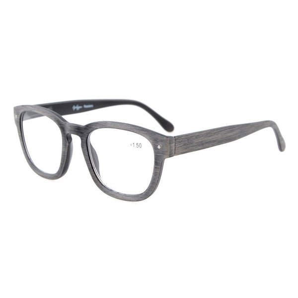Eyekepper Reading Glasses Professor Vintage Style Spring Hinges Arms Anti-Grey +1.75