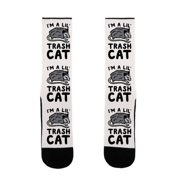 I'm A Lil' Trash Cat US Size 7-13 Socks by LookHUMAN