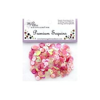 Buttons Galore LL Premium Sequins Blush