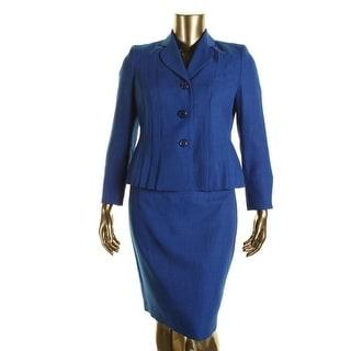 Le Suit Womens Petites Yatch Club 2PC Pleated Skirt Suit