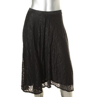 Only Hearts NYC Womens Nightengale Lace Pull On Flare Skirt - XS