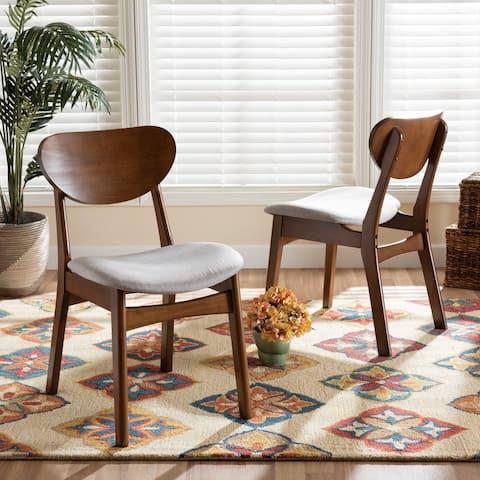 Katya Mid-Century Modern 2-Piece Dining Chair Set