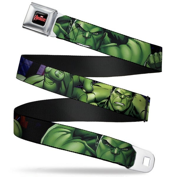 Marvel Avengers Marvel Avengers Logo Full Color Black Red White Marvel Hulk Seatbelt Belt