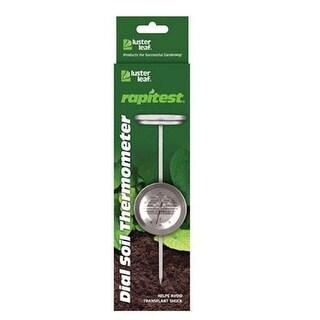 "Luster Leaf 1630 Rapitest Dial Soil Thermometer, 6"" Probe"