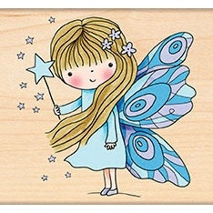 "Penny Black Mounted Rubber Stamp 3""X3.25""-Fairy Dust"