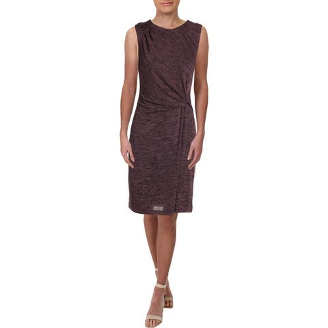 Nic + Zoe Every Occasion Women's Knot Front Sleeveless Wear to Work Dress