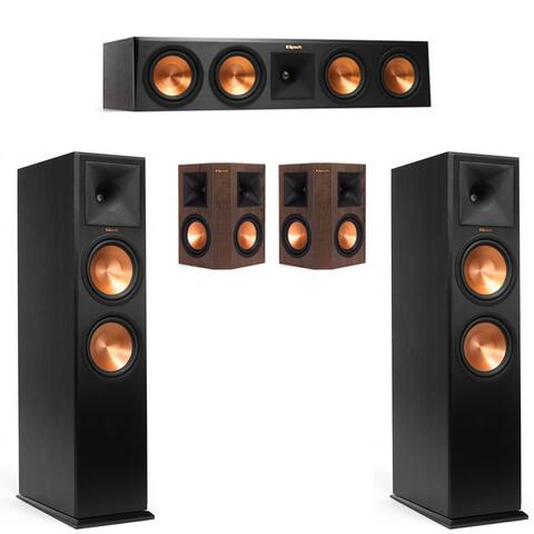 Klipsch RP-280F 5.0 Home Theater System w 450C, 250S Walnut Surrounds