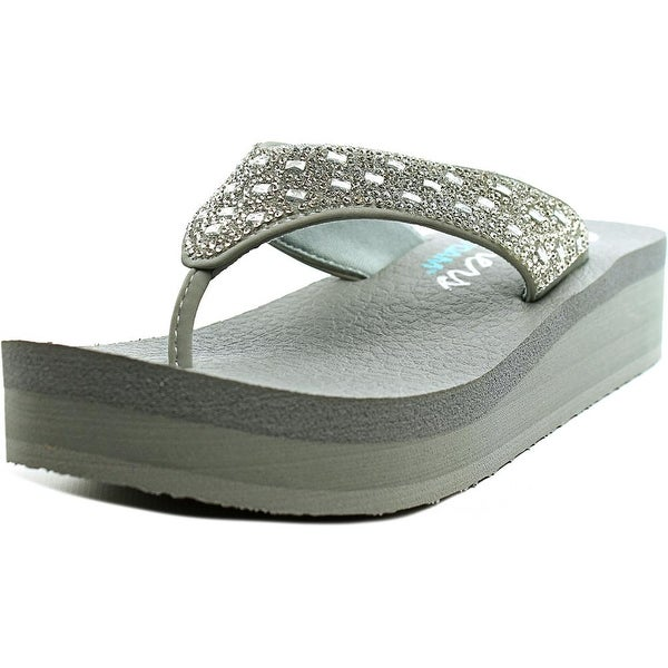 Skechers Vinyasa - Zen Garden Women Open Toe Synthetic Gray Thong Sandal