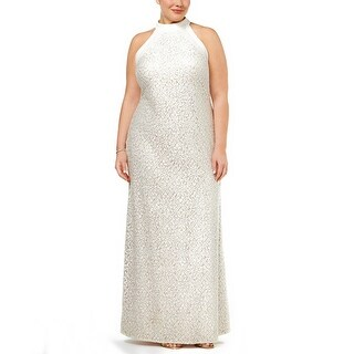 Nightway Plus Size Lace Evening Gown Dress - 16W