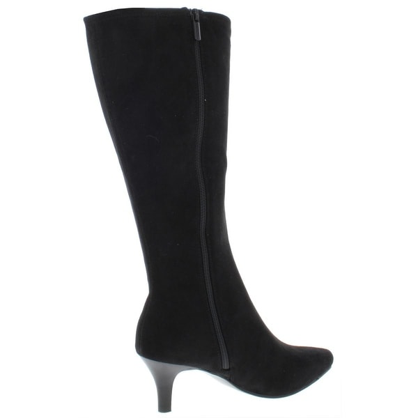 Boots Wide Calf Faux Suede