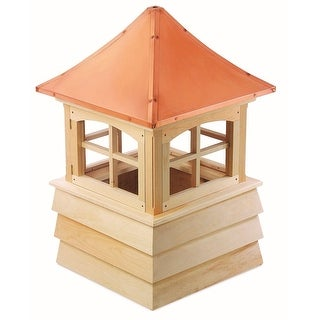 "129"" Handcrafted ""Guilford"" Copper Roof Wooden Cupola"