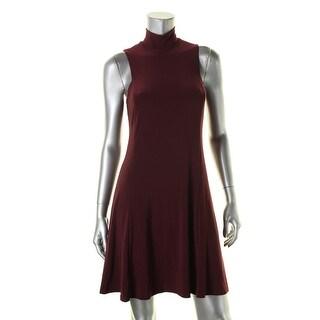 Lauren Ralph Lauren Womens Casual Dress Jersey Mock Neck