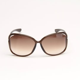 Raquel Brown Sunglasses With Brown Gradient Lens