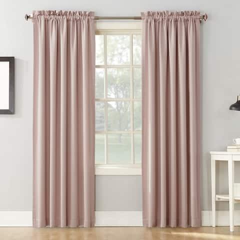 Sun Zero Ren Room Darkening Rod Pocket Curtain Panel Pair