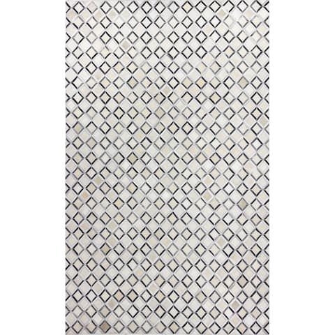 Bashian Quillon Contemporary Hand Stitched Area Rug