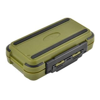Unique Bargains Fishing 24 Compartments Fish Hook Bait Storage Box Fishhook Holder Olive Green