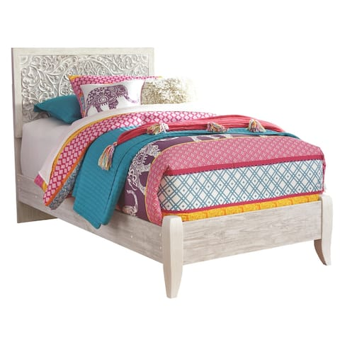 Paxberry Twin Panel Headboard - Traditional Style - Whitewash