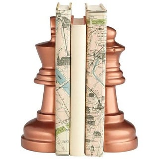 Cyan Design Checkmate Bookends 8.75 Inch Tall Checkmate Bookends - Antique Copper