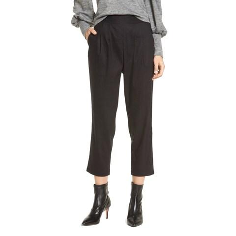 Leith Black Women's Size Medium M Stretch Cropped Dress Pants