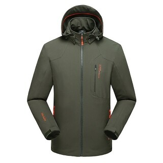 Men  Baluster Waterproof Sport Jacket Hooded Coat