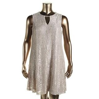 Jessica Howard Womens Embellished Keyhole Cocktail Dress