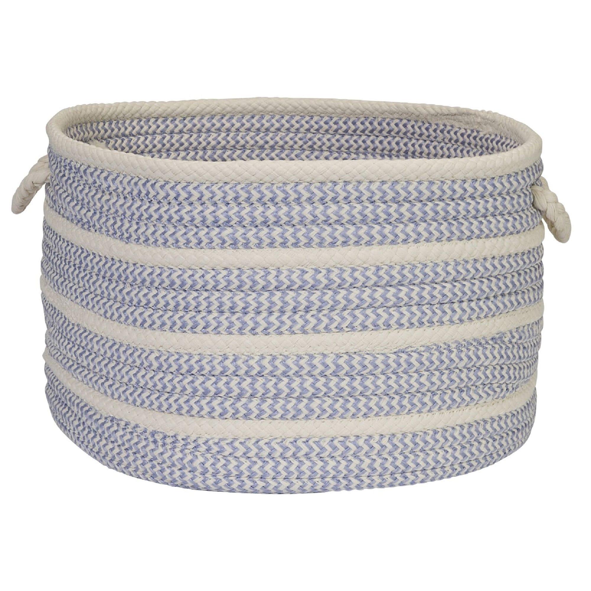 14 Amethyst Purple Farmhouse Style Round Braided Storage Basket Overstock 32297437