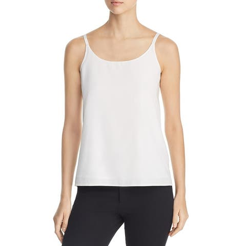 Eileen Fisher Womens Camisole Top Scoop Neck Cropped