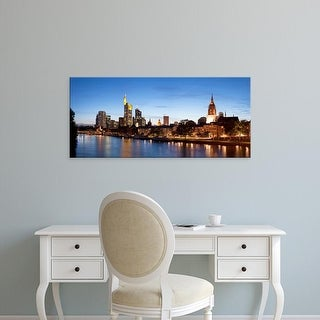 Easy Art Prints Panoramic Images's 'Buildings at the waterfront, Main River, Frankfurt, Hesse, Germany' Canvas Art