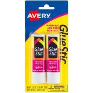 .26Oz - Avery Glue Stic Permanent Adhesive 2/Pkg
