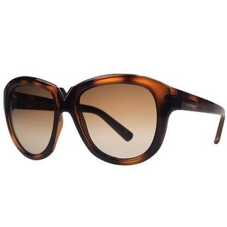 Valentino V 663/S 209 Havana Brown Round Sunglasses