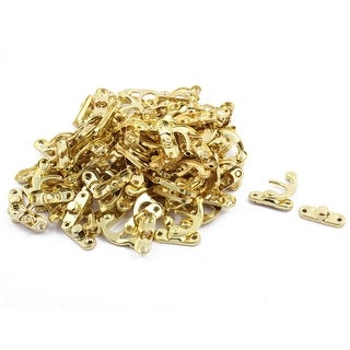 Home Metal Swing Bag Suitcase Chest Hasp Box Latch Hook Lock Gold Tone 80 Sets