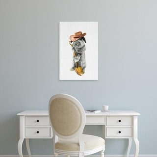 Easy Art Prints Tai Prints's 'Rabbit Farmer' Premium Canvas Art