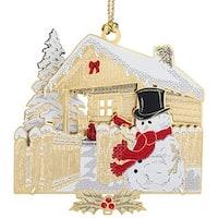 ChemArt 58283 Christmas Log Cabin Ornament