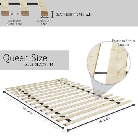Onetan 0.75-inch Standard Mattress Support Wooden Bunkie Board / Slats.