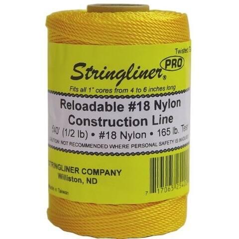 Stringliner 35400 Twisted Mason Line Reel Refill, Gold, 540'