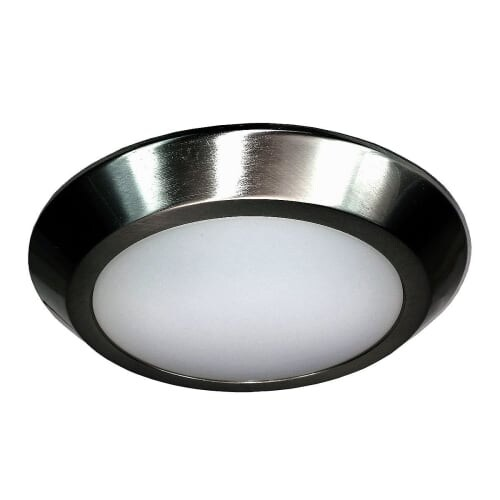 HomeSelects International 8137 eLIGHT Single Light LED Flush Mount Ceiling Fixture - Grey
