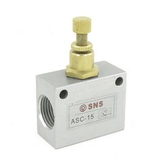 One Way 1/2 NPT Pneumatic Flow Speed Control Valve ASC-15