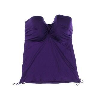 Panache Womens Marina Ruched Strapless Swim Top Separates - 32dddd/g