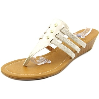 Rampage Suricka Open Toe Canvas Wedge Sandal