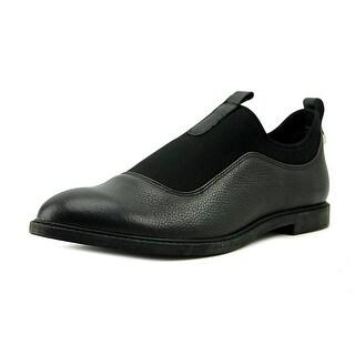 Calvin Klein Damira Women Round Toe Leather Black Loafer (Option: Comfortable)