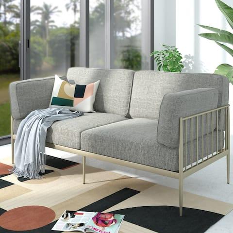Priage by ZINUS Gold Metal Sofa