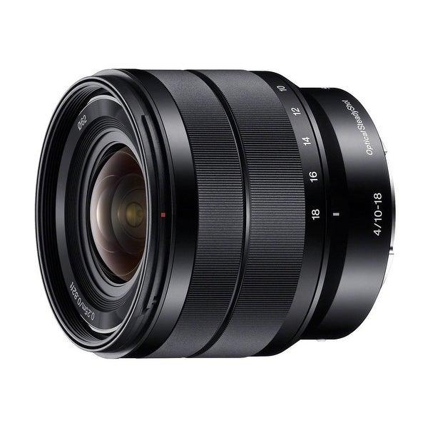 Sony 10-18mm f/4 OSS Alpha E-mount Wide-Angle Zoom Lens - black