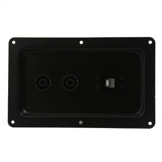 Unique Bargains Car Vehicle Black Metal Audio Speaker Box Connector Plate