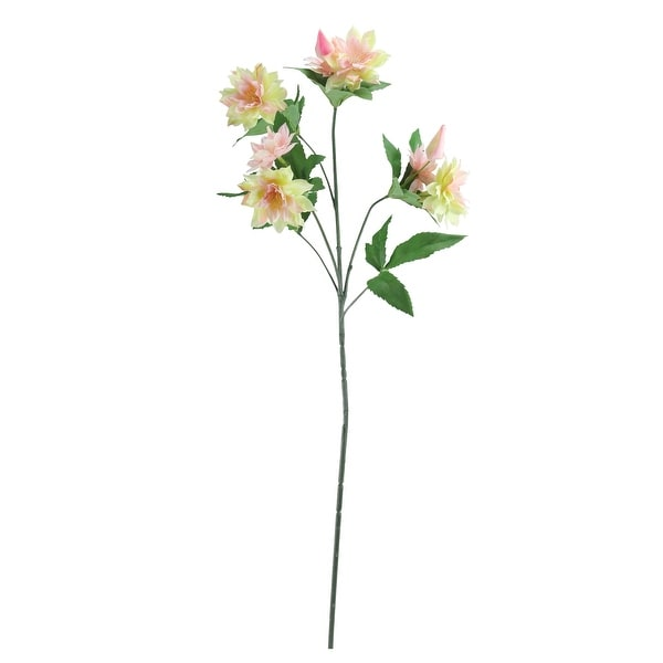 """27"""" Yellow and Pink Artificial Mini Dhalia Inspired Floral Spray - N/A"""