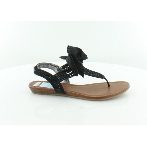 Matterial Girl Swan Women's Sandals & Flip Flops Black