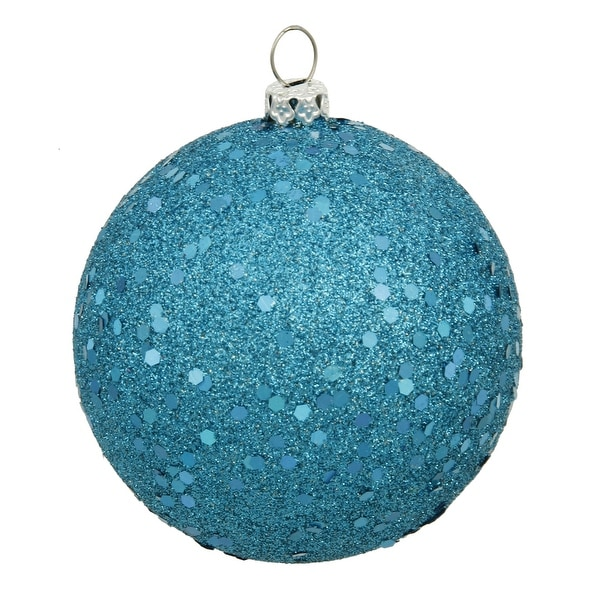 "12"" Turquoise Sequin Finish Ball"