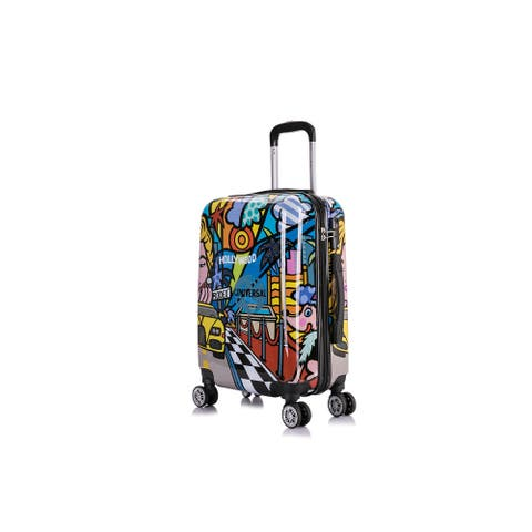 InUSA Hollywood Prints Lightweight Hardside Spinner 20 inch Carry-on