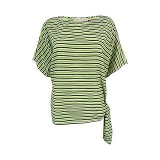Michael Kors Women's Striped Side Tie Top