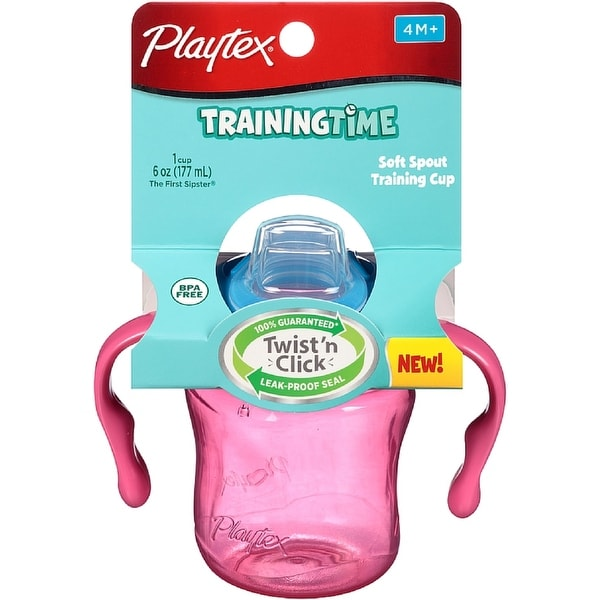 Playtex Training Time Spill Proof Soft Spout Training Cup 6 oz, Assorted Colors 1 ea